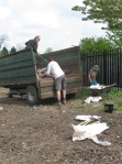 Emptying rubbish