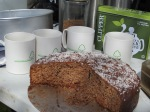 Refreshments from litter pick of cake and cups