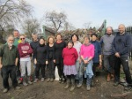 Volunteers at the litter pick