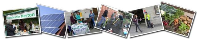 Sustainable Merton activities - solar, gardening, stalls and growing vegetables